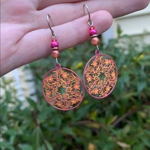 Lovely and Colorful Dangle Earrings